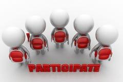 3d man participate concept Stock Image