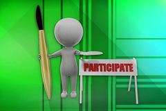 3d man participate illustration Stock Photo