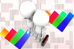 3d Man Partner Illustration Royalty Free Stock Photography