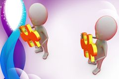 3d man partnership illustration Royalty Free Stock Photography