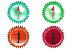 3d man party icon Stock Photography