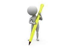 3d man pen concept Stock Image