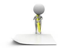 3d man pen paper concept Stock Images