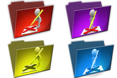 3d Man pen wrong cconcept icon Royalty Free Stock Image