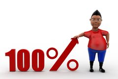 3d man 100 percent Royalty Free Stock Images