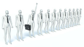 3d man, person and success. Concept of idea Royalty Free Stock Image