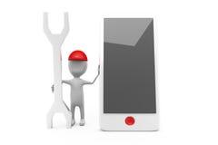 3d man phone tool concept Royalty Free Stock Photos