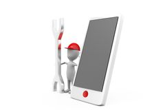 3d man phone tool concept Royalty Free Stock Images