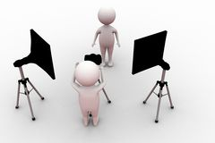 3d man photograph concept Stock Photography