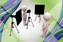3d man photograph illustration Royalty Free Stock Image