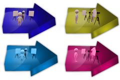 3d man photoshoot icon Stock Photos