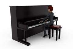 3d man piano concept Royalty Free Stock Photo