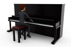 3d man piano concept Royalty Free Stock Photography