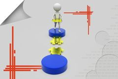 3d man piece of path illustration Royalty Free Stock Images