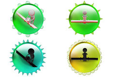 3d man pipe icon Royalty Free Stock Image