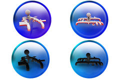 3d man pipes icon Royalty Free Stock Image