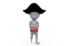 3d man pirate concept Royalty Free Stock Images