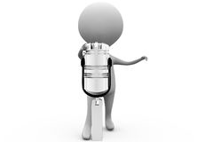 3d man piston concept Stock Image