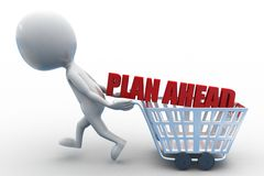 3d man plan ahead comcept Stock Photos