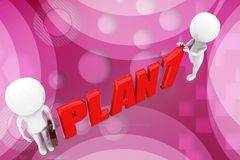 3D man plan 1 illustration Stock Image