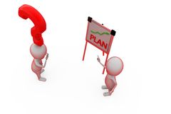 3d man plan question concept Stock Photography