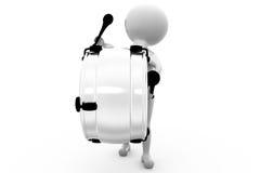 3d man play drum concept Stock Image