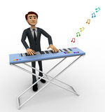 3d man play morden musical keyboard concept Stock Image