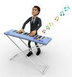 3d man play morden musical keyboard concept Royalty Free Stock Photography