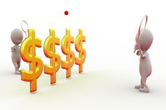 3d man play tennis with money net concept Stock Photo