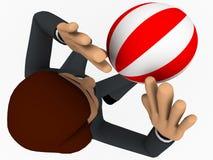 3d man play volley ball concept Royalty Free Stock Photos