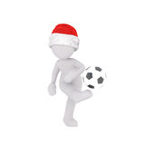 3d man playing football Stock Photos