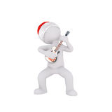3d man playing a guitar to celebrate Christmas Royalty Free Stock Photo