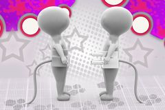 3d man plug illustration Stock Photo