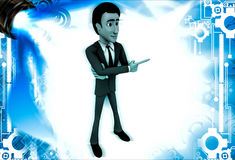 3d man pointing in one direction illustration Royalty Free Stock Photo