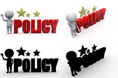 3d man policy concept collections with alpha and shadow channel Royalty Free Stock Photo