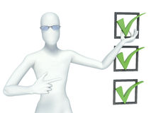 3d man and positive symbol Royalty Free Stock Photo