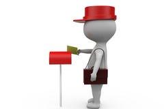 3d man postman concept Stock Image