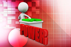 3d man power battery illustration Royalty Free Stock Photo