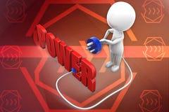 3d man power illustration Stock Photos