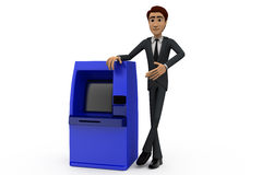 3d man present atm machine concept Royalty Free Stock Photography