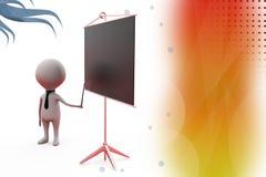 3d man presentation illustration Stock Images