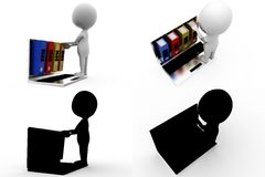 3d man previous year concept collections with alpha and shadow channel Stock Image