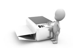3d man printer concept Stock Image