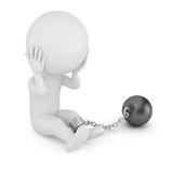 3d man prisoner Royalty Free Stock Photo