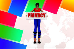 3D man privacy illustration Stock Photo