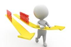 3d man process service concept Stock Image
