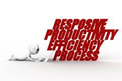 3d Man Productivity Efficiency Streamline Responsive Stock Image
