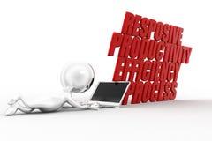3d Man Productivity Efficiency Streamline Responsive Royalty Free Stock Photography