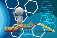 3d man productivity illustration Royalty Free Stock Images