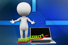 3d man productivity illustration Royalty Free Stock Photos